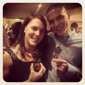 Joel & Leah winners of the CFT 2014 awards.