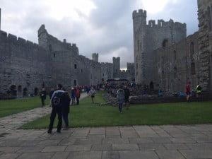 Inside Caernarfon castle.